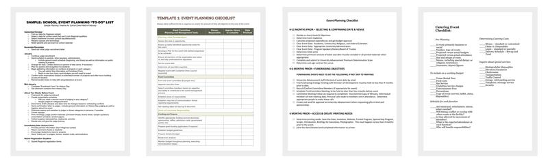 Event Checklist Templates
