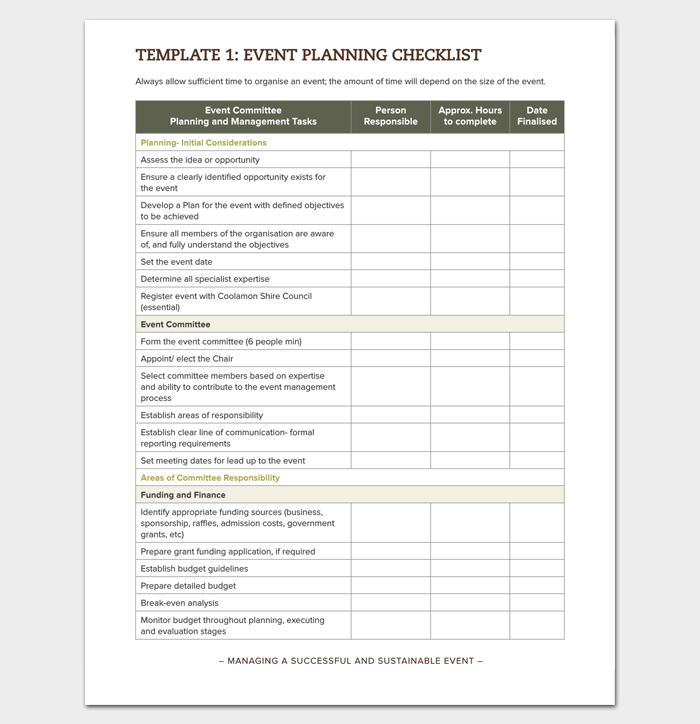 Event Planning Checklist in PDF Format 1