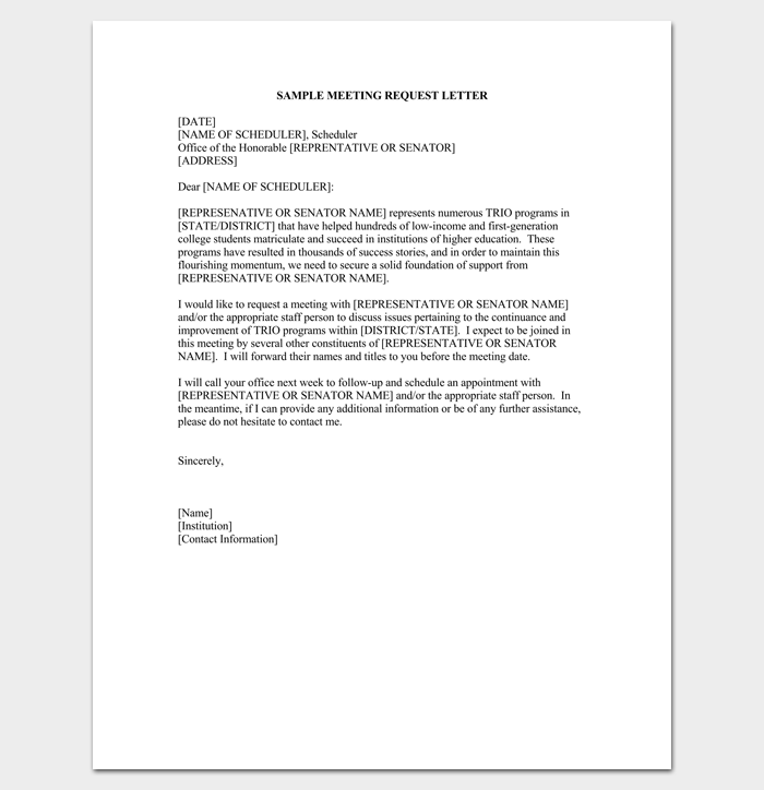 Business appointment letter 20 samples examples formats meeting request appointment letter 1 spiritdancerdesigns Gallery