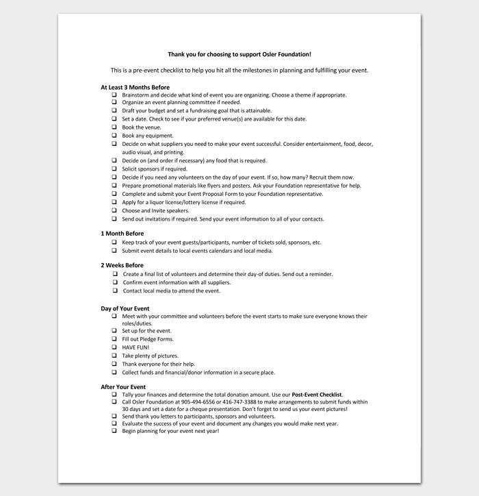 Pre Planning Event Checklist 1