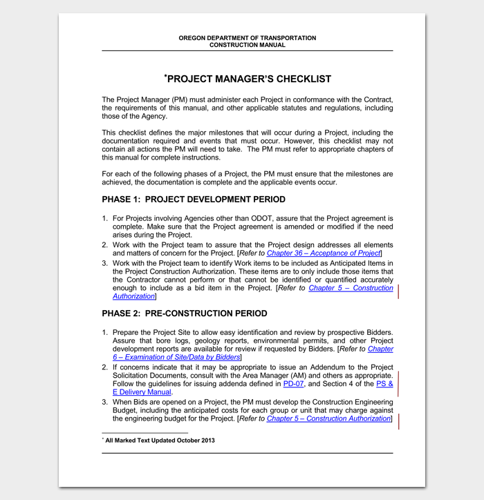 project management checklist for dummies pdf