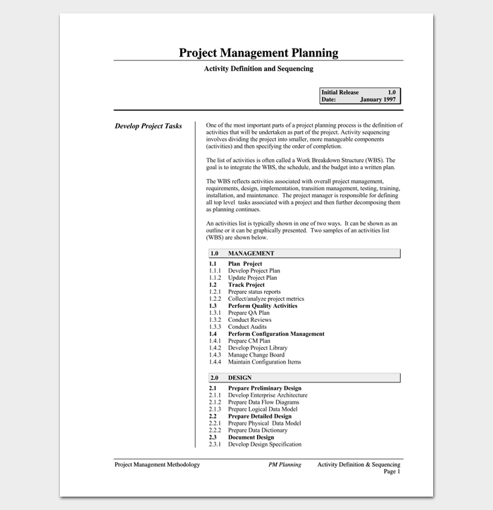 Project Management Planning (Task List) 1