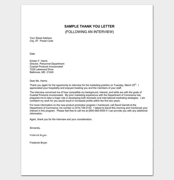 Sample Appointment Response Letter 1