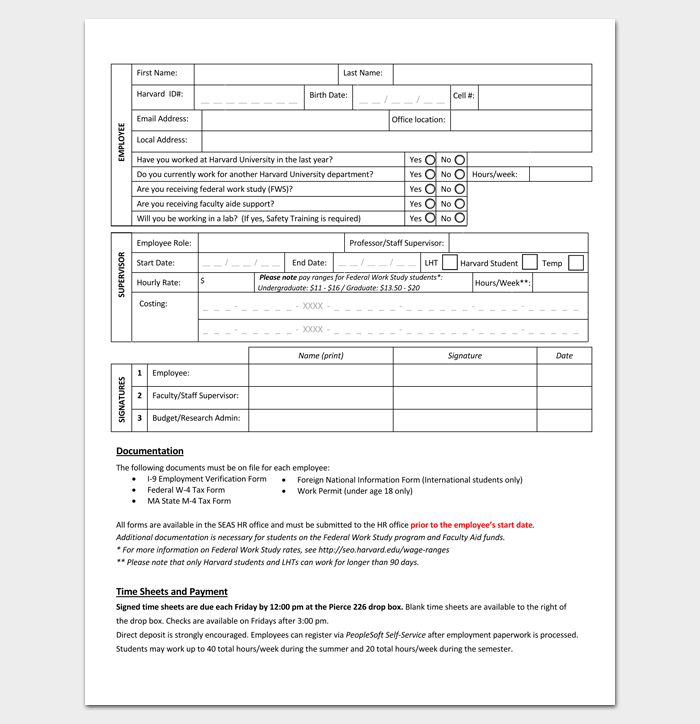 Temporary Appointment Form in PDF 1