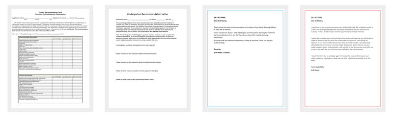 kindergarten recommendation letter