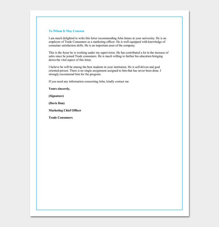 Letter of recommendation for a graduate school 5 sample letters recommendation letter for graduate school from employer spiritdancerdesigns Image collections