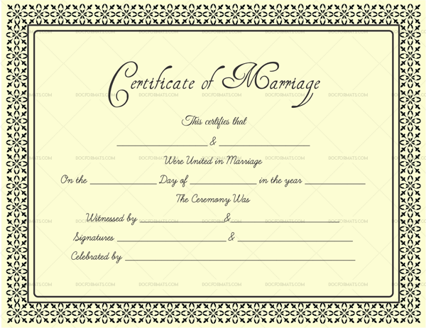 Editable marriage certificates for word pdf format for Editable certificate template