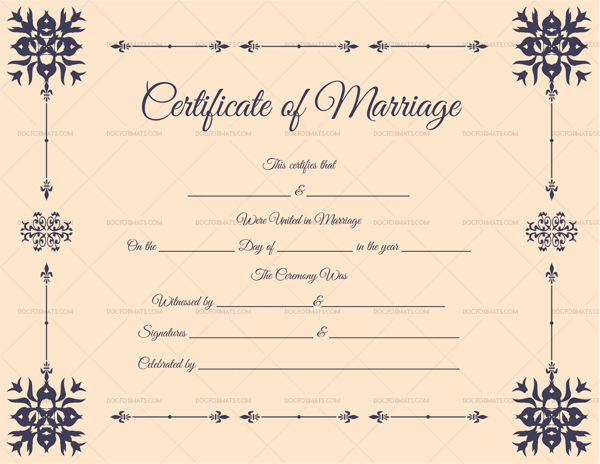 Editable marriage certificates for word pdf format dotxes editable marriage certificate format yelopaper Images