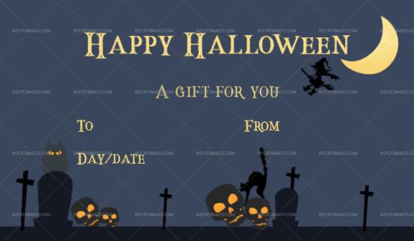 17 Halloween Gift Certificate