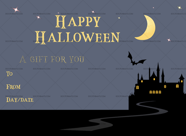 35 Halloween Gift Certificate template