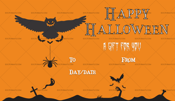 41 Halloween Gift Certificate Beast Customize in Word 1063