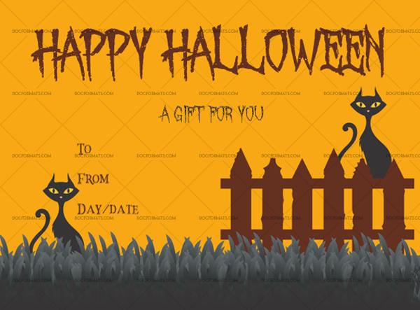 Halloween gift certificate template number 5