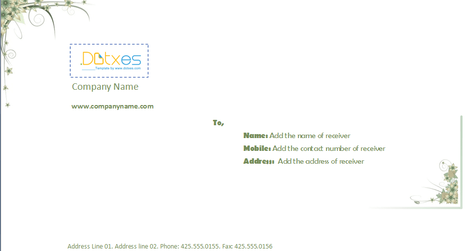Business envelope template 414 x 95 dotxes business envelope template 414 x 95 fbccfo