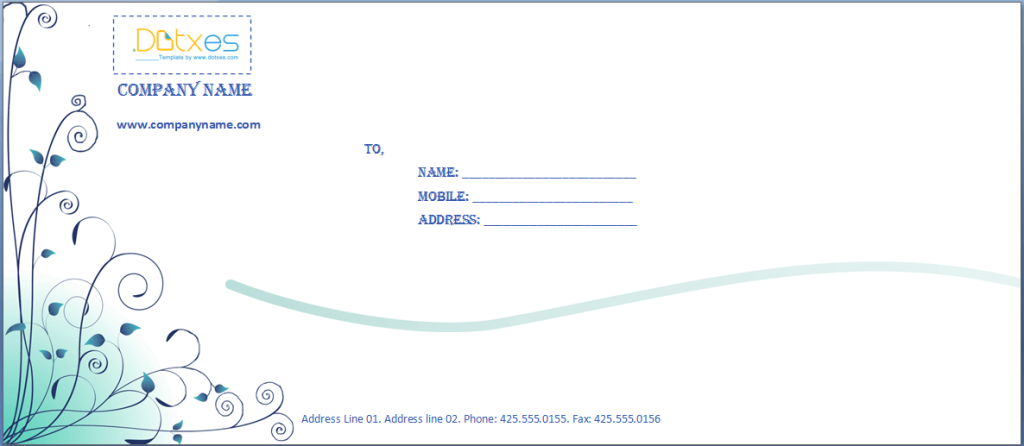 Envelope design template word ukrandiffusion business envelope template blue design dotxes fbccfo Image collections