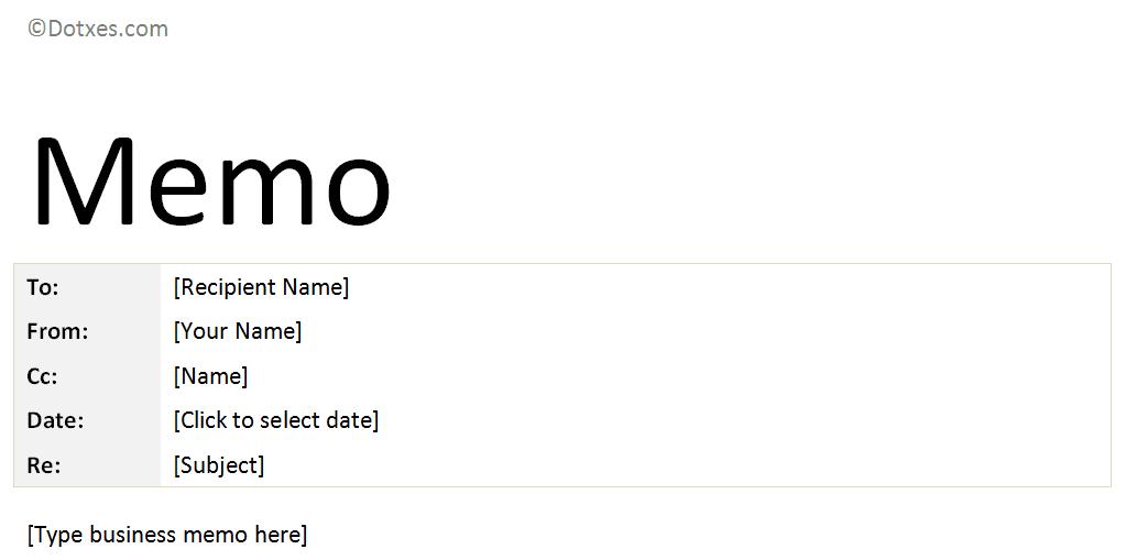 business memo sample