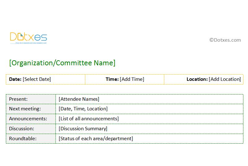 sample meeting minutes  short format