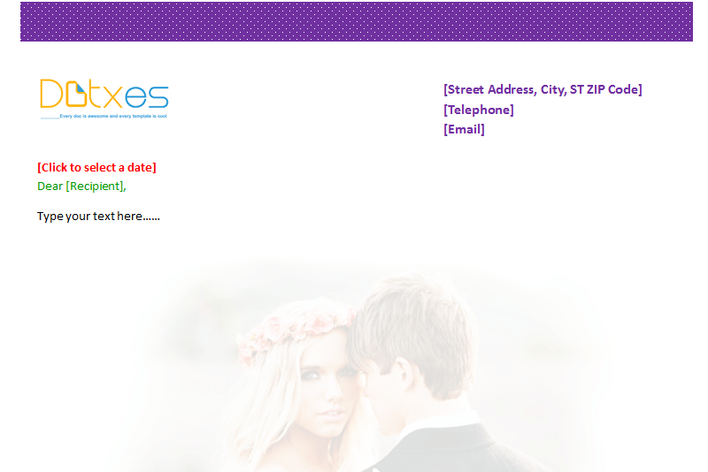 Wedding Letterhead Template (Featured Image)