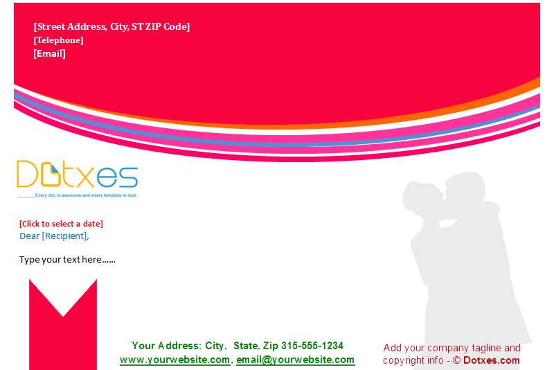 Wedding Letterhead Template (Red Theme) Featured Image
