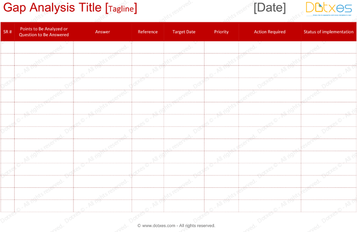 Gap Analysis Template - for Word and Excel® - Dotxes