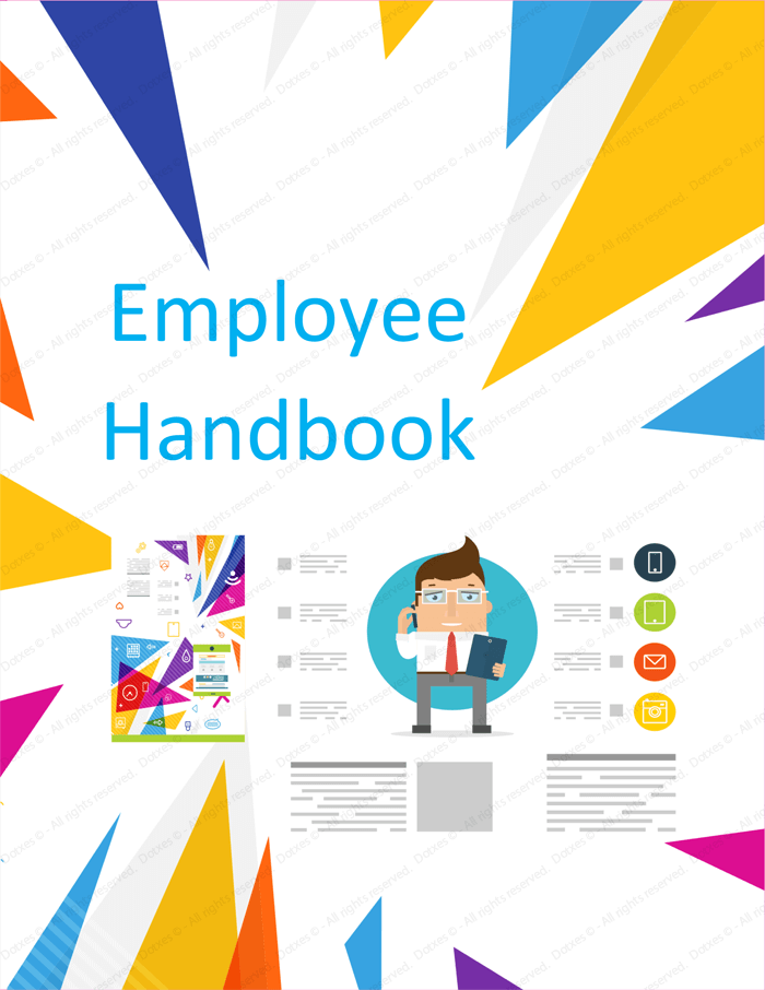 Delightful Employee Handbook Template   Free Printable Sample