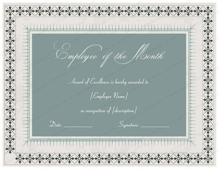Excellent employee performance award certificate designs employee recognition certificate template yadclub