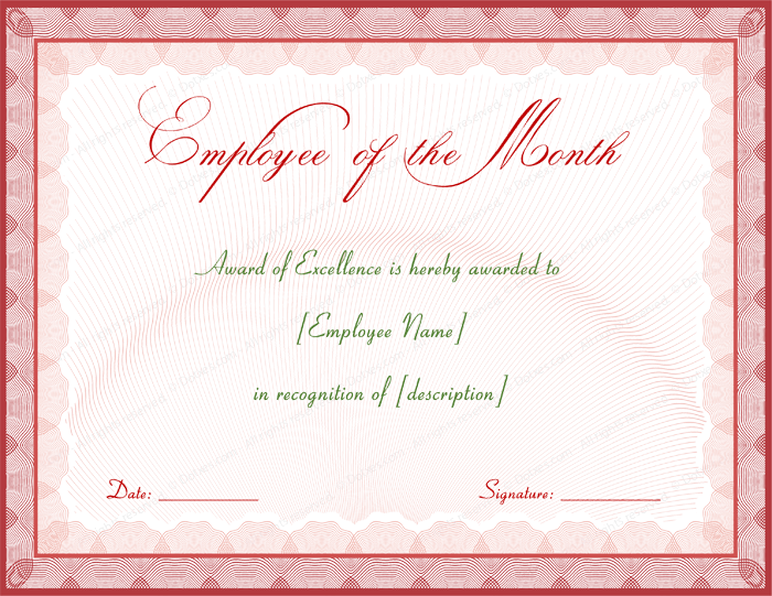 employee appreciation certificate template award certificate template word