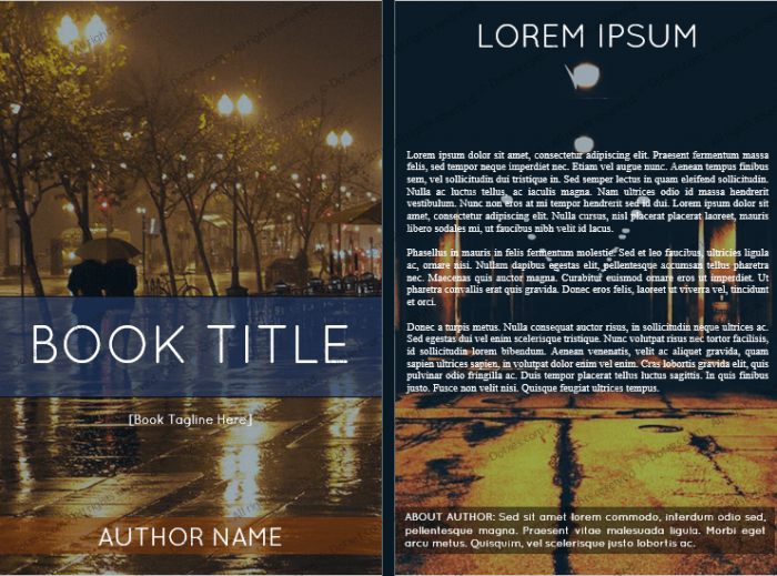 book cover template for microsoft u00ae word  6 x 9