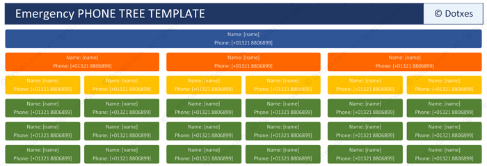 Phone tree template for word and excel dotxes for Calling tree template word