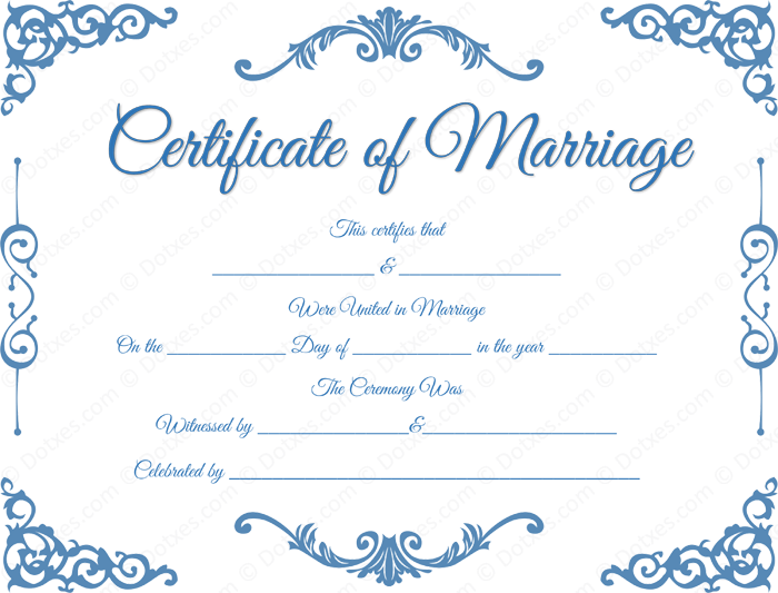 traditional corner marriage certificate template dotxes