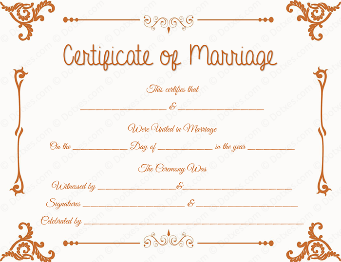 marriage certificate template word Floral Corner Marriage Certificate Template - Dotxes