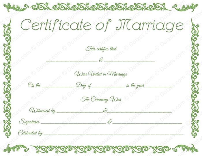 Printable marriage certificate template dotxes printable marriage certificate format yadclub Choice Image