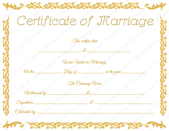 Printable marriage certificate template dotxes printable marriage certificate template for word yadclub