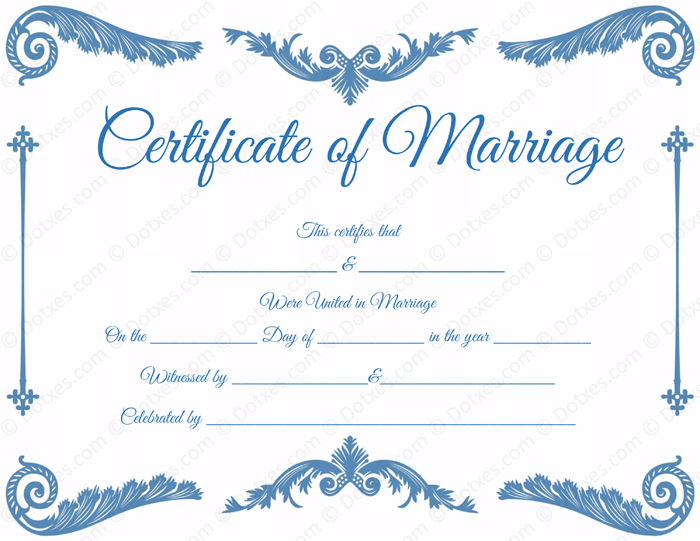 Royal corner marriage certificate template dotxes royal corner blank marriage certificate template yadclub Image collections