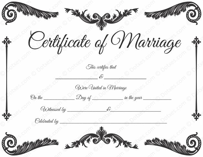 royal corner marriage certificate template dotxes