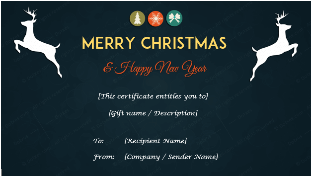 Christmas gift certificate template holiday gift certificates dotxes christmas gift certificate midnight blue yelopaper Image collections