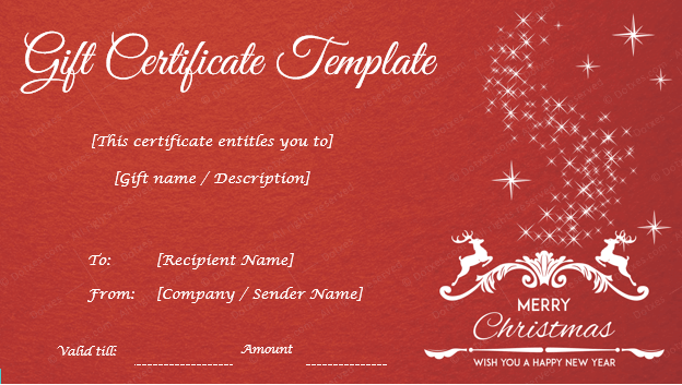 Christmas gift certificate templates editable and printable designs christmas gift certificate template yelopaper Image collections