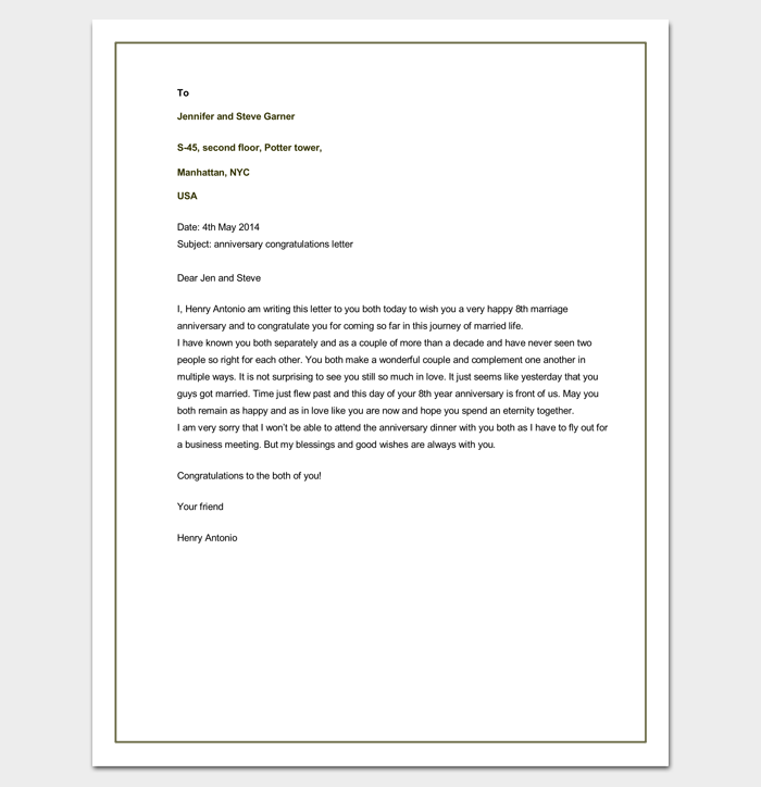 How To Format A Ceo Letter