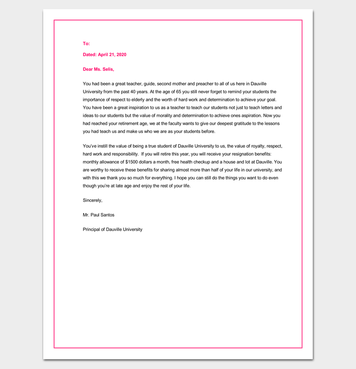 Congratulation Letter Template - 18+ Samples for Word, PDF ...