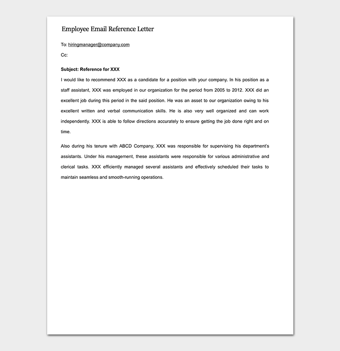 Reference letter template 50 for word pdf format expocarfo Choice Image