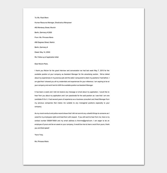 Reminder Email Reference Letter