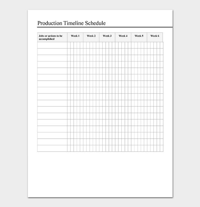 Production Schedule Template